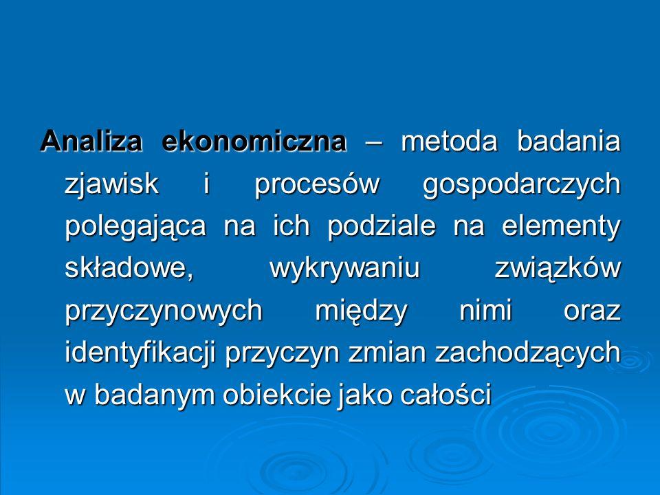 Analiza ekonomiczna przedsiębiorstwo gospodarka narodowa sektor/branża projekt