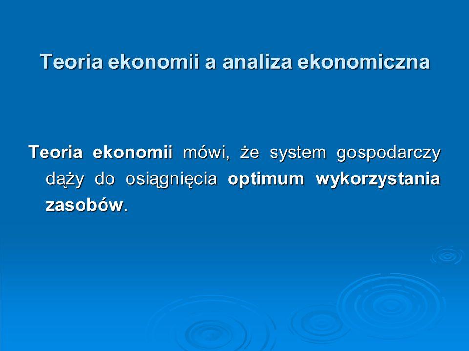W punkcie optimum gospodarka działa efektywnie, czyli: występuje pełne wykorzystanie zasobów (w granicach narodowych); występuje pełne wykorzystanie zasobów (w granicach narodowych); wytwarzane są produkty, na które jest zapotrzebowanie (bez tworzenia niepotrzebnych zapasów); wytwarzane są produkty, na które jest zapotrzebowanie (bez tworzenia niepotrzebnych zapasów); do ich wytworzenia jest używana właściwa kombinacja zasobów (wynikająca z cen określonych przez społeczną gotowość do ich zapłacenia); do ich wytworzenia jest używana właściwa kombinacja zasobów (wynikająca z cen określonych przez społeczną gotowość do ich zapłacenia); gospodarka rozwija się we właściwym tempie, tj.
