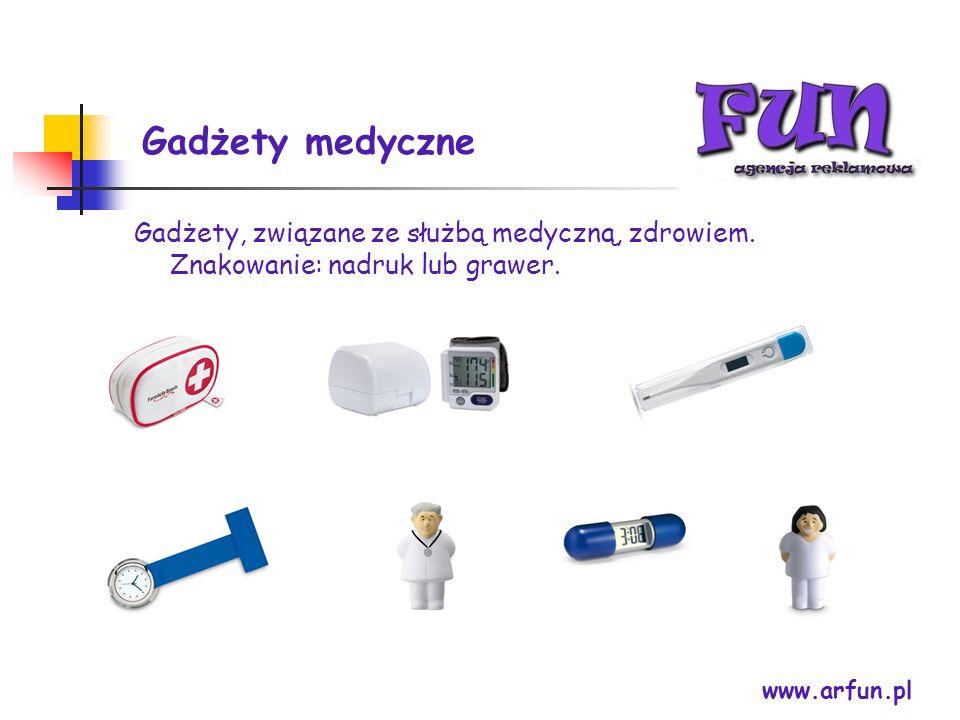 Gadżety medyczne www.arfun.pl Gadżety, związane ze służbą medyczną, zdrowiem. Znakowanie: nadruk lub grawer.