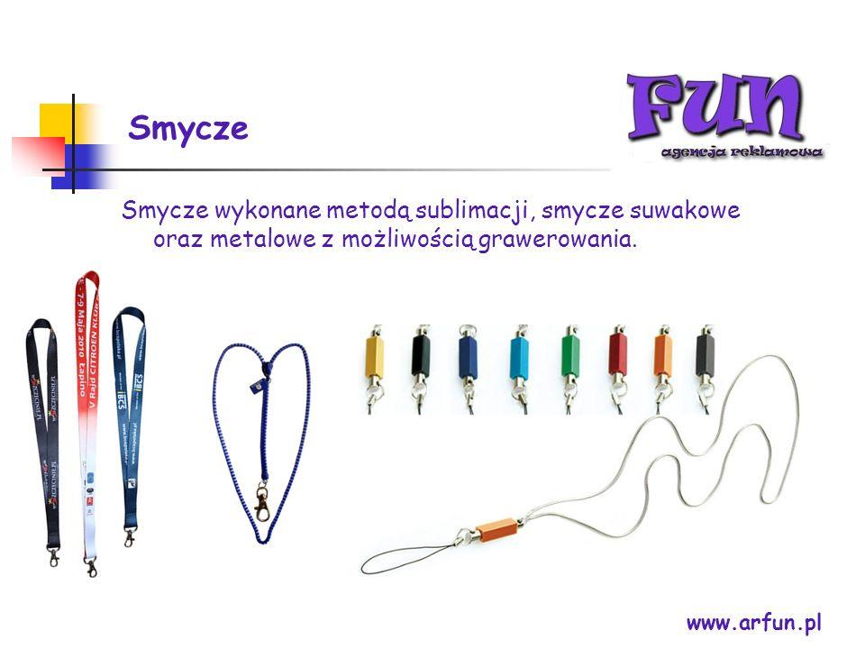 Smycze www.arfun.pl Smycze wykonane metodą sublimacji, smycze suwakowe oraz metalowe z możliwością grawerowania.
