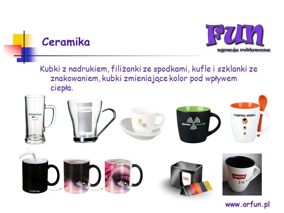 Ceramika www.arfun.pl Kubki z nadrukiem, filiżanki ze spodkami, kufle i szklanki ze znakowaniem, kubki zmieniające kolor pod wpływem ciepła.