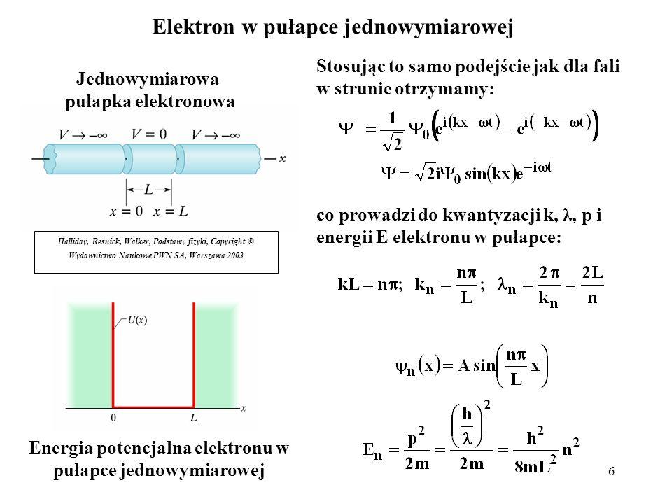 17 Jądrowy model atomu Rutherforda Problem ze stabilnością układu jądro – elektrony; dlaczego ładunki ujemne nie zbliżą się do dodatniego jądra, neutralizując je.