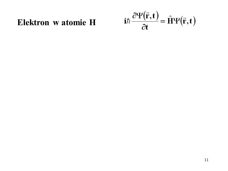 11 Elektron w atomie H