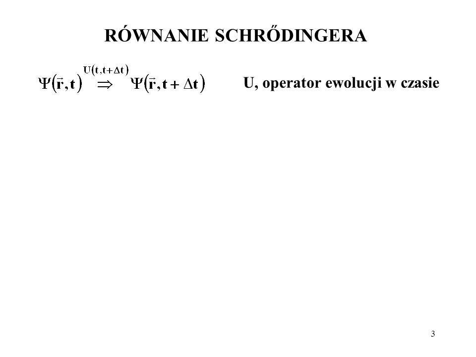 24 Energia potencjalna elektronu w atomie H: Prowadzi to do równania Schrődingera niezależnego od czasu: Energia potencjalna elektronu w jonie H-podobnym: gdzie: