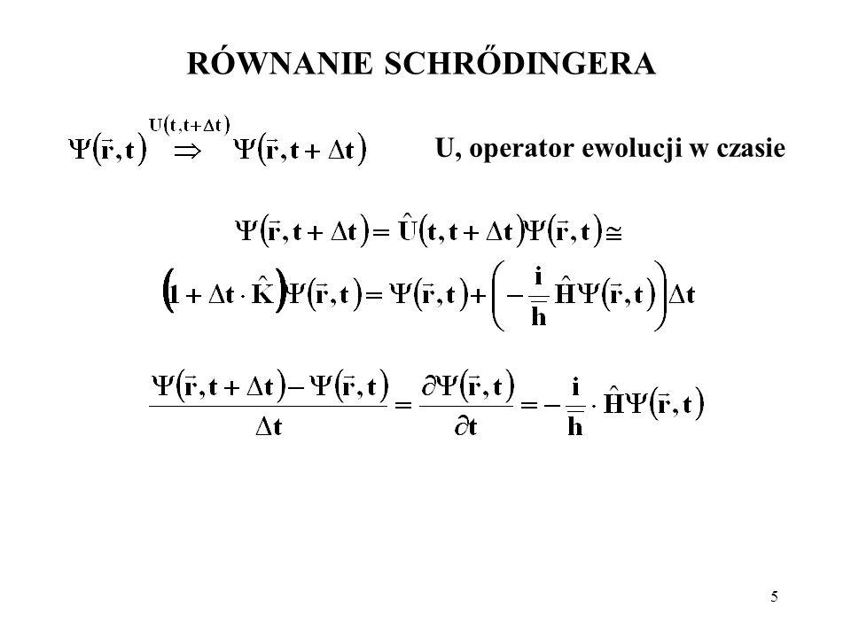6 RÓWNANIE SCHRŐDINGERA Feynman, t.III, rozdz.