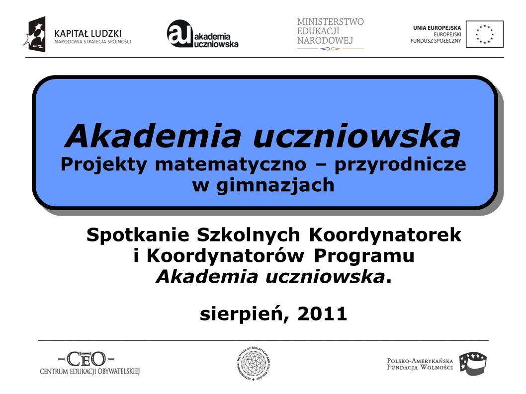Program Akademia uczniowska realizowany jest przez Fundację Centrum Edukacji Obywatelskiej.