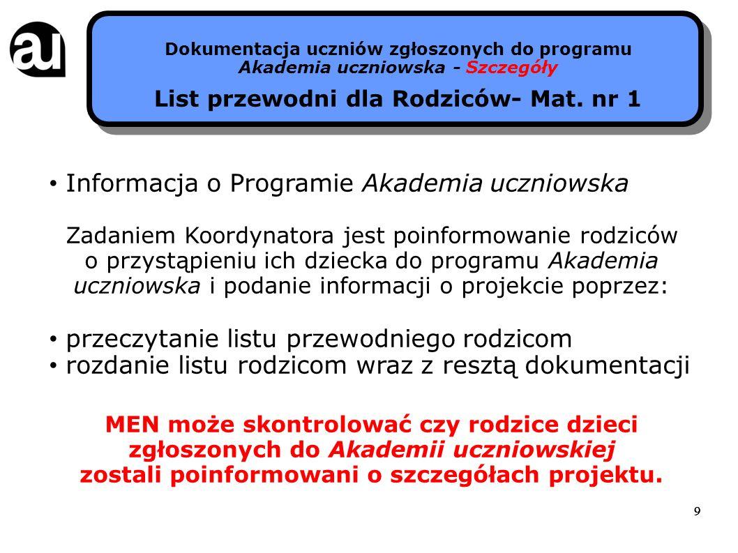 10 Dokumentacja uczniów zgłoszonych do programu Akademia uczniowska - Szczegóły Deklaracja uczestnictwa w projekcie - Mat.