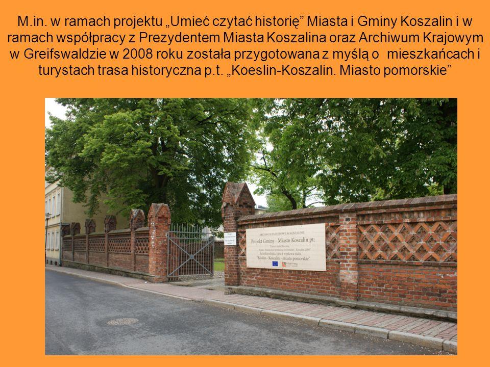 Archiwum Państwowe w Koszalinie pragnąc zachęcić do sięgania do źródeł i wspólnego poznawania dziedzictwa kulturowego Pomorza Zachodniego jest inicjat