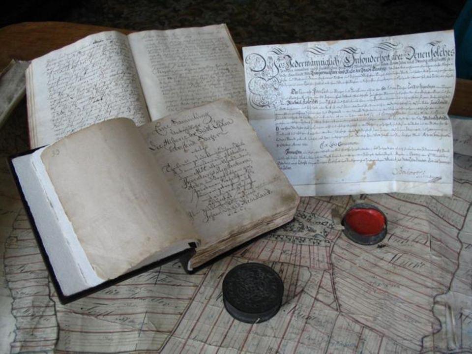 Rękopis pierwszej kroniki Koszalina z I połowy XVIII w., pióra Johanna Dawida Wendlanda – zapis o pochodzeniu nazwy Köslin (Akta miasta Koszalina, sygn.