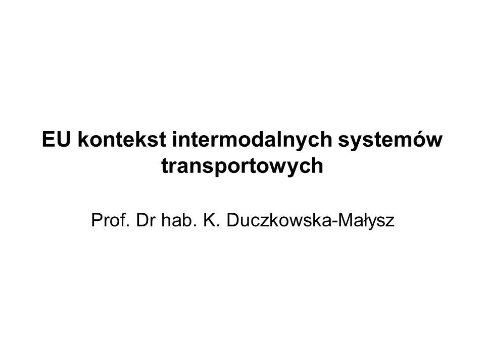 EU kontekst intermodalnych systemów transportowych Prof. Dr hab. K. Duczkowska-Małysz