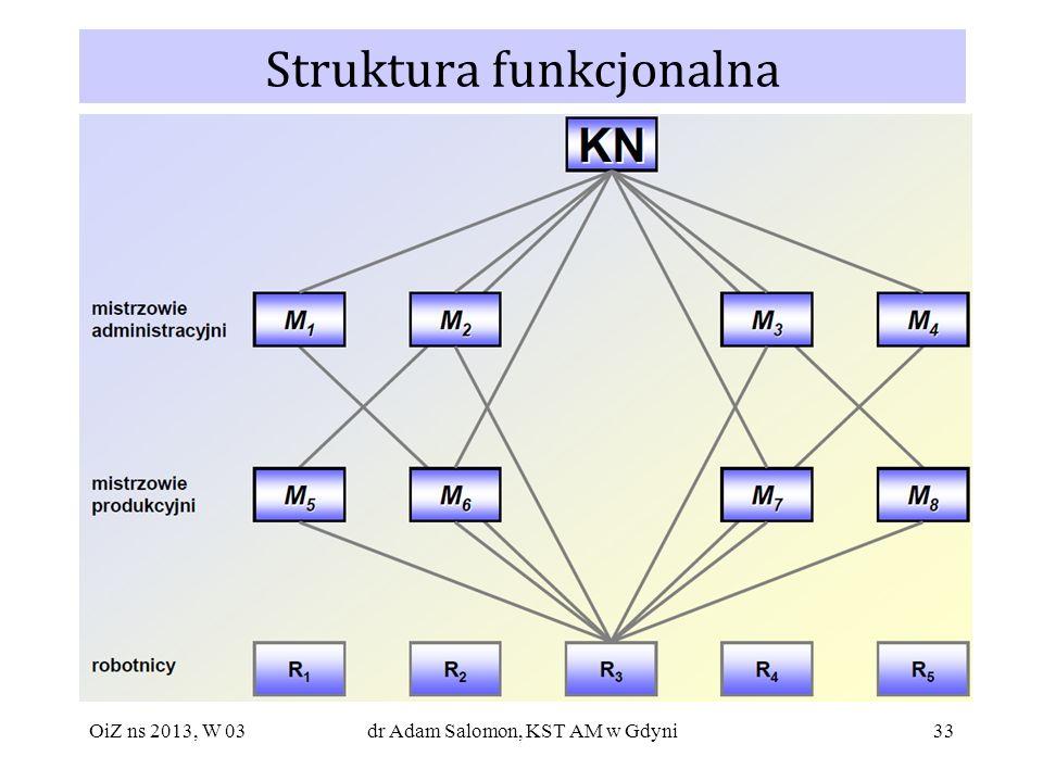 33 Struktura funkcjonalna OiZ ns 2013, W 03dr Adam Salomon, KST AM w Gdyni