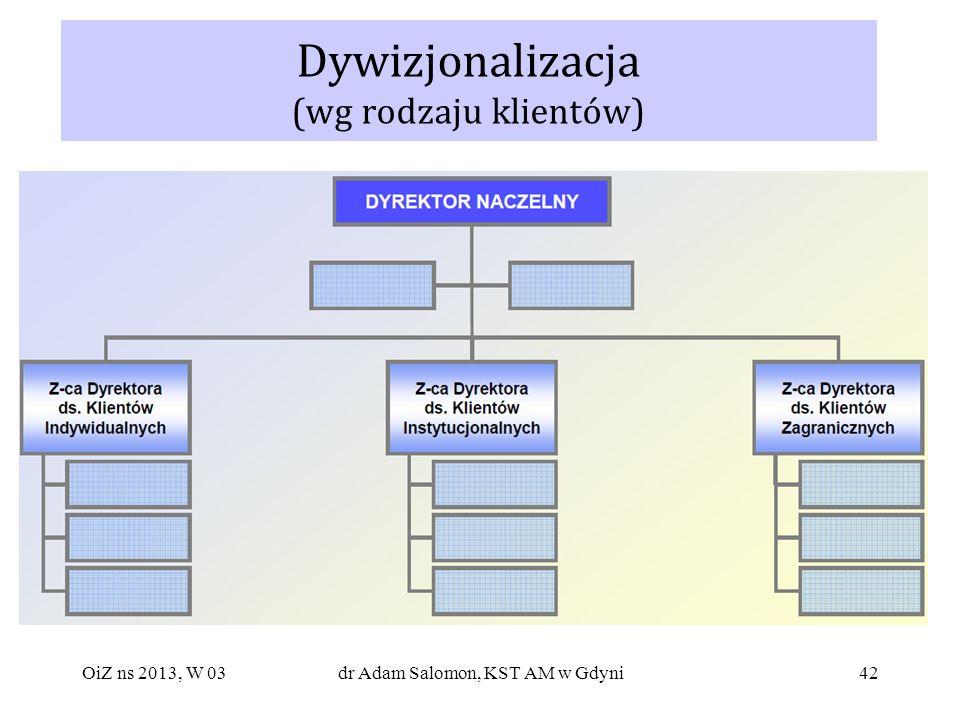 42 Dywizjonalizacja (wg rodzaju klientów) OiZ ns 2013, W 03dr Adam Salomon, KST AM w Gdyni