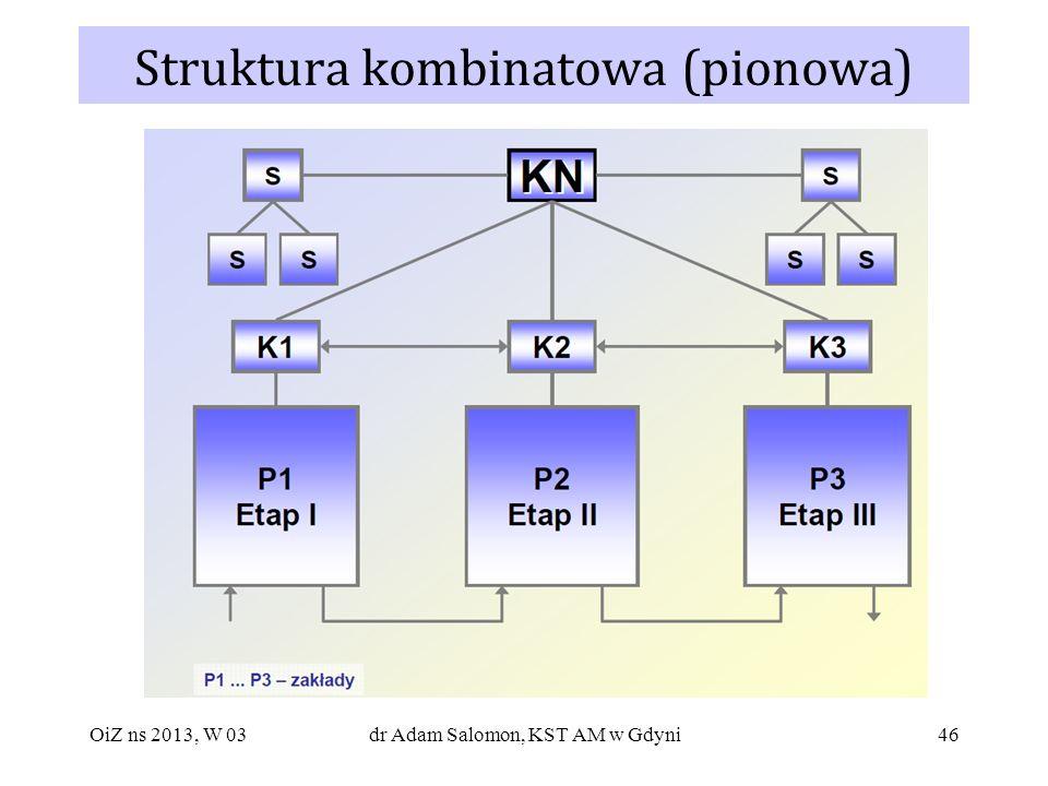 46 Struktura kombinatowa (pionowa) OiZ ns 2013, W 03dr Adam Salomon, KST AM w Gdyni