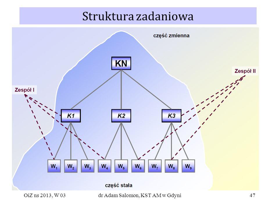 47 Struktura zadaniowa OiZ ns 2013, W 03dr Adam Salomon, KST AM w Gdyni