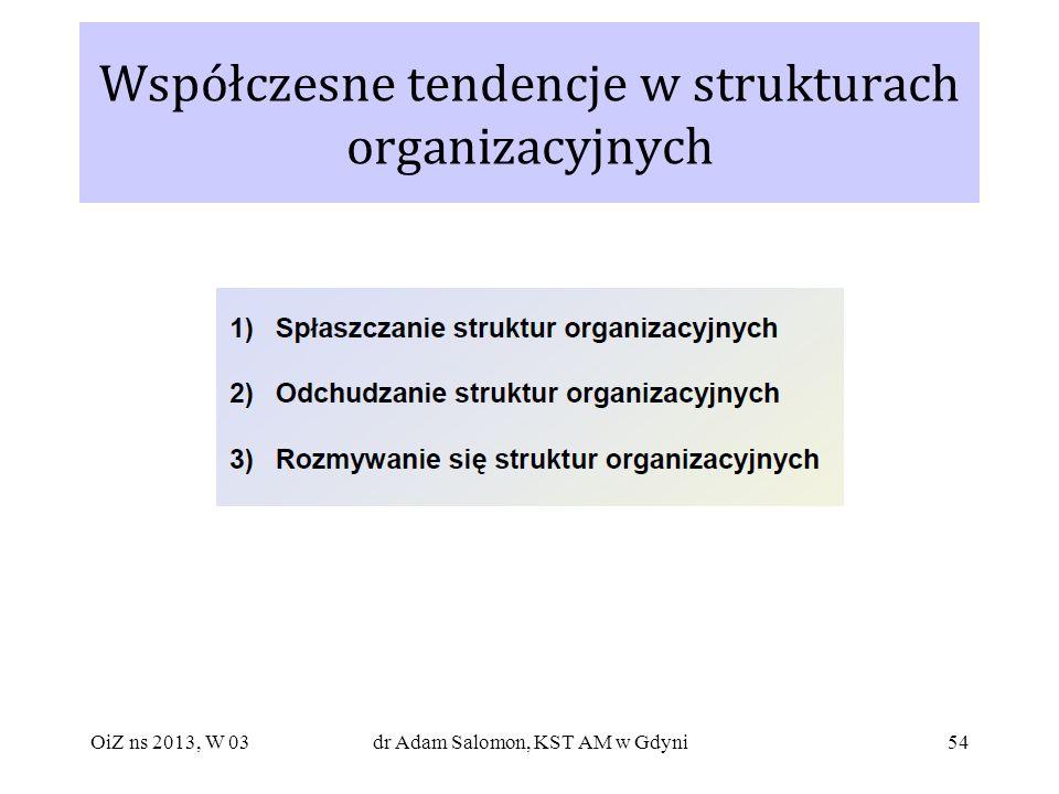 54 Współczesne tendencje w strukturach organizacyjnych OiZ ns 2013, W 03dr Adam Salomon, KST AM w Gdyni