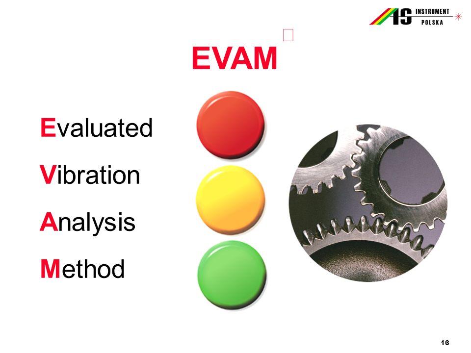 16 EVAM Evaluated Vibration Analysis Method