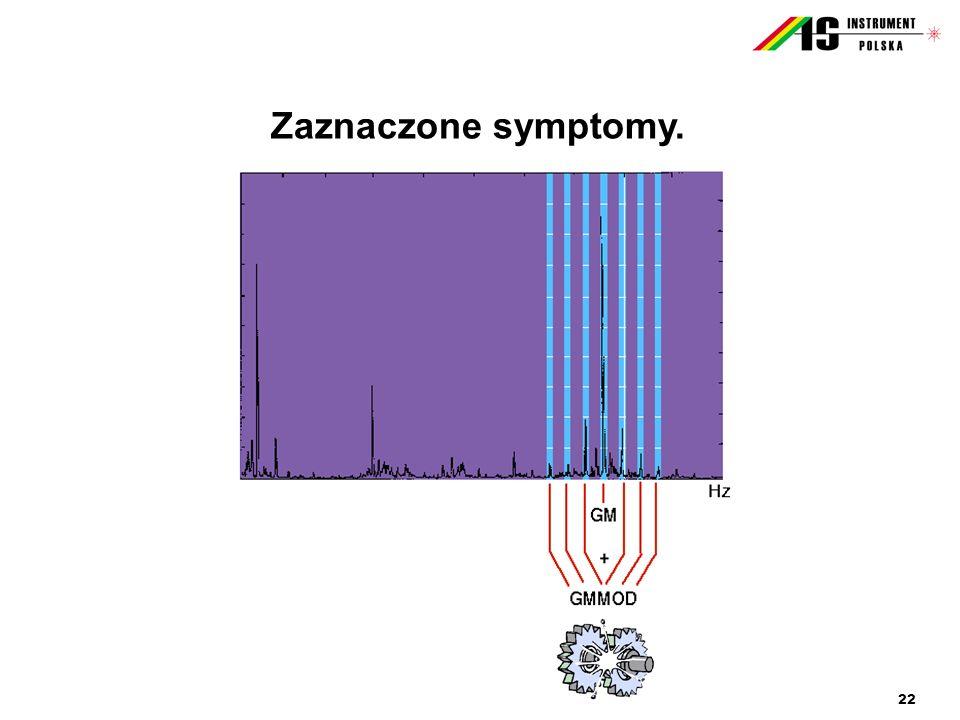 22 Zaznaczone symptomy.
