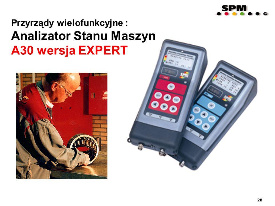 28 Przyrządy wielofunkcyjne : Analizator Stanu Maszyn A30 wersja EXPERT Przyrządy wielofunkcyjne : Analizator Stanu Maszyn A30 wersja EXPERT