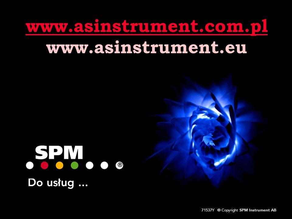 49 71537Y © Copyright SPM Instrument AB Do usług... www.asinstrument.com.pl www.asinstrument.eu