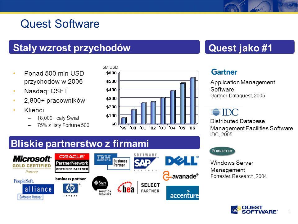 Copyright © 2007 Quest Software Narzędzia do obsługi heterogenicznych środowisk opartych o AD Paweł Żuchowski Piotr Banaszewski Dyrektor Handlowy Key