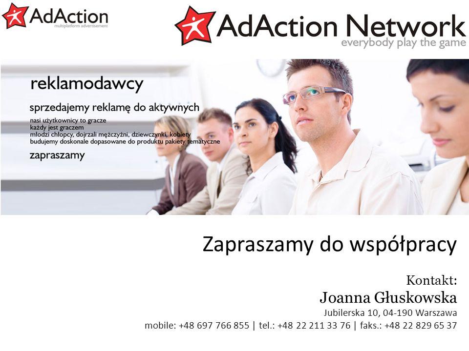generujemy efekty Zapraszamy do współpracy Kontakt: Joanna Głuskowska Jubilerska 10, 04-190 Warszawa mobile: +48 697 766 855 | tel.: +48 22 211 33 76 | faks.: +48 22 829 65 37