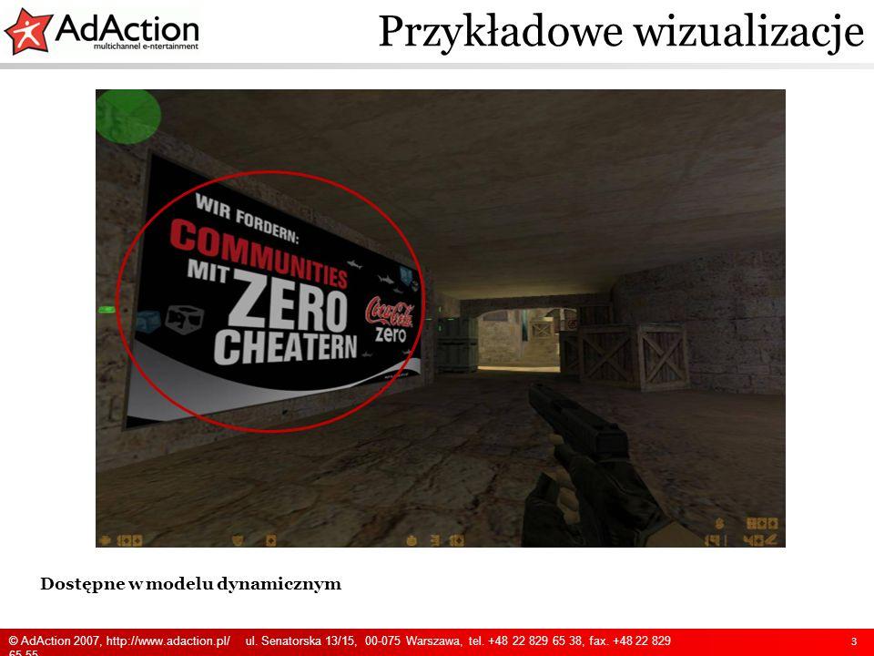 Dostępne w modelu dynamicznym Przykładowe wizualizacje 4 © AdAction 2007, http://www.adaction.pl/ ul.