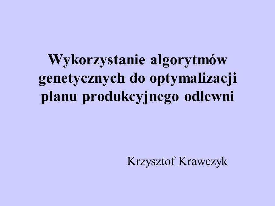 Wykorzystanie algorytmów genetycznych do optymalizacji planu produkcyjnego odlewni Krzysztof Krawczyk