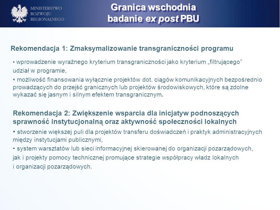 wprowadzenie wyraźnego kryterium transgraniczności jako kryterium filtrującego udział w programie, możliwość finansowania wyłącznie projektów dot. cią
