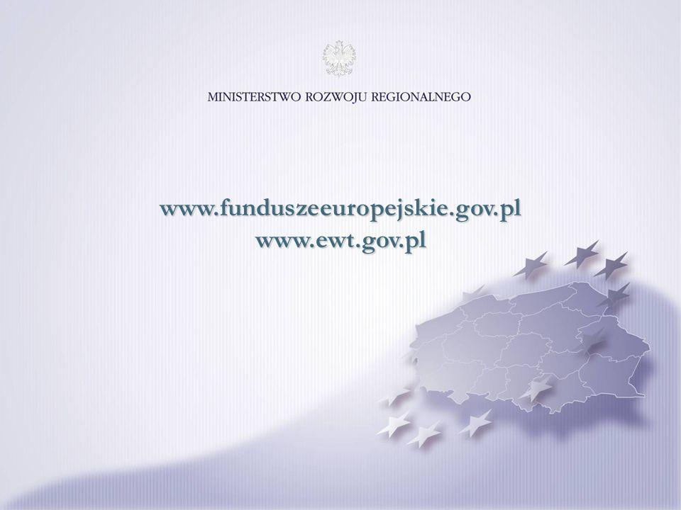 www.funduszeeuropejskie.gov.pl www.ewt.gov.pl