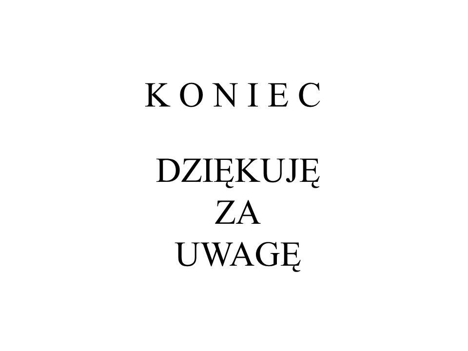 DZIĘKUJĘ ZA UWAGĘ K O N I E C