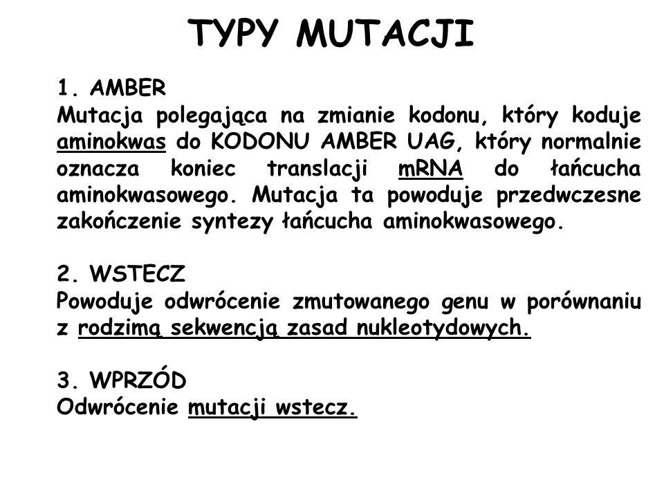 Mutacje w schorzeniach i mutageny nasilające objawy kliniczne Przykłady mutagenezy