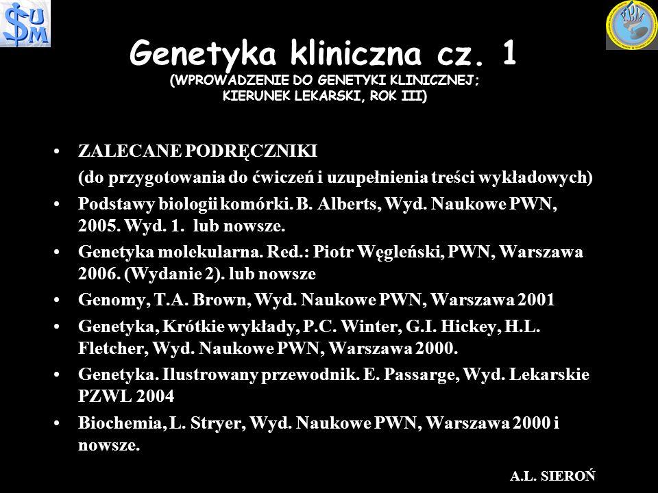 Genetyka kliniczna cz.