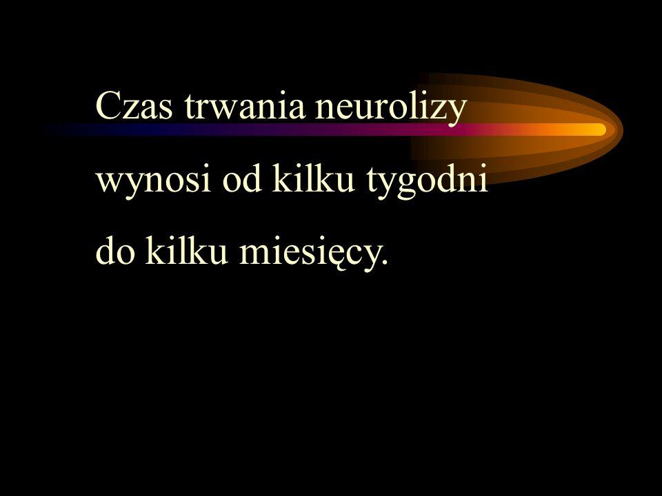 Czas trwania neurolizy wynosi od kilku tygodni do kilku miesięcy.