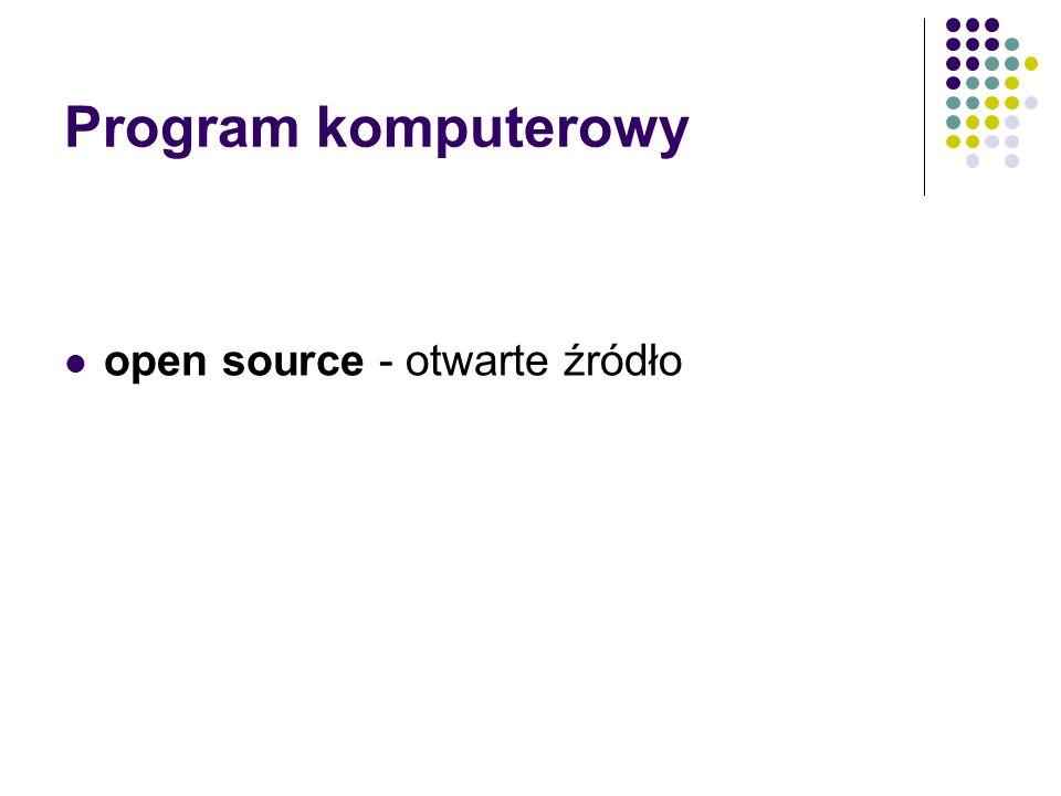 Program komputerowy open source - otwarte źródło