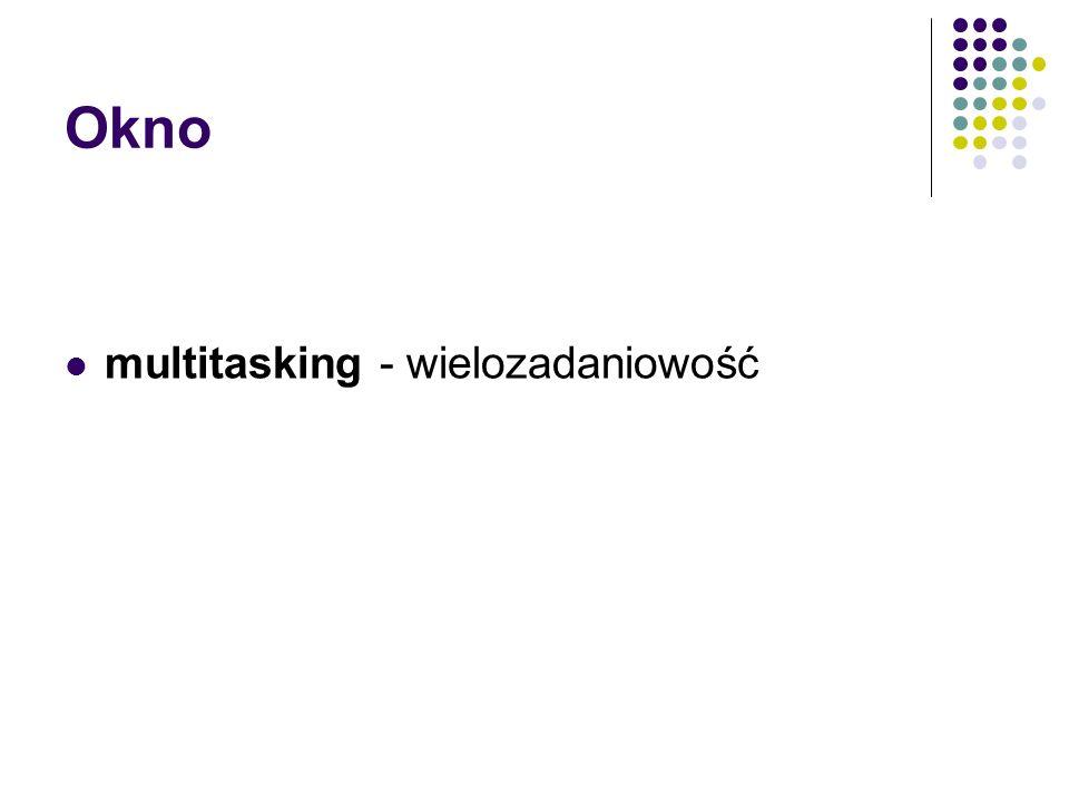 Okno multitasking - wielozadaniowość