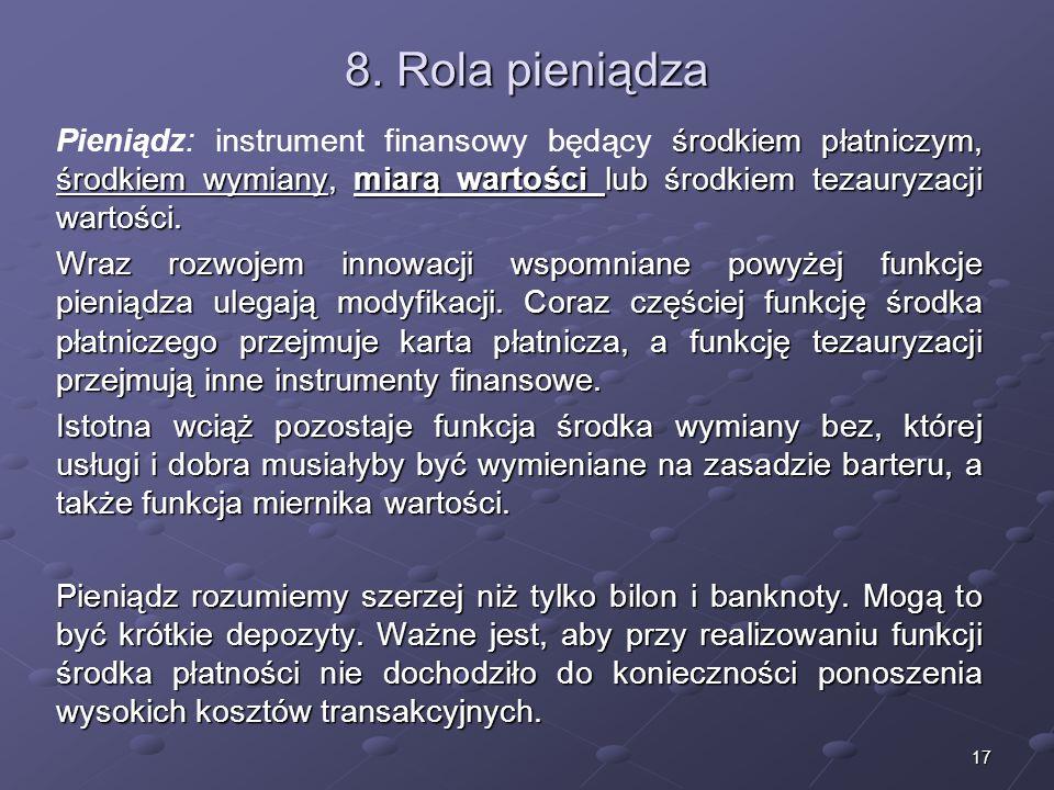 16 Struktura systemu finansowego (publicznego) - publicznych instrumentów finansowych – instrumentów pozwalających zaciągać zobowiązania w przypadku b