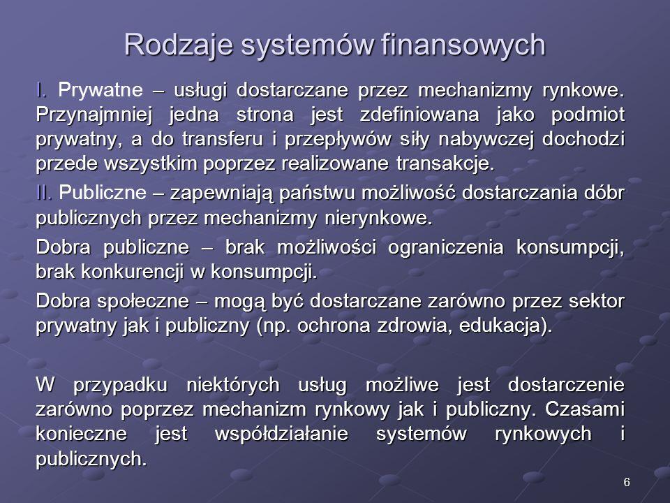 5 2. Schemat funkcjonowania Z punktu widzenia funkcjonowania systemów finansowych istotne znaczenie ma stopień restrykcyjności polityki fiskalnej i mo