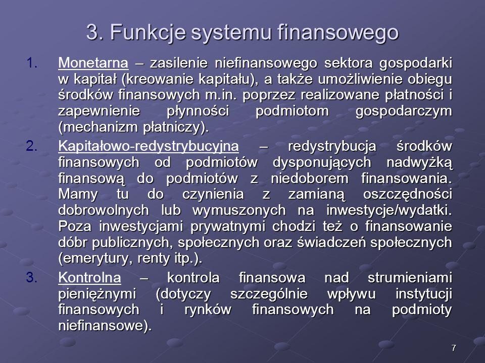 6 Rodzaje systemów finansowych I. – usługi dostarczane przez mechanizmy rynkowe. Przynajmniej jedna strona jest zdefiniowana jako podmiot prywatny, a