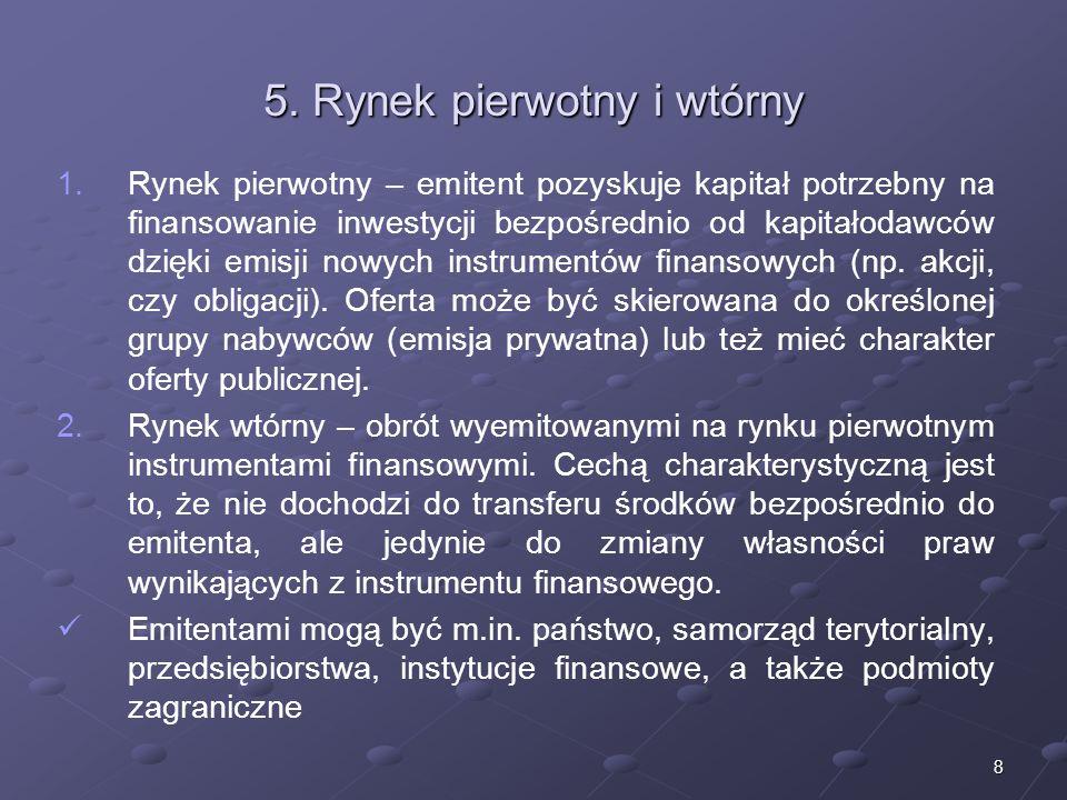 7 4. Efektywność rynku Słaba efektywność Słaba efektywność – cena aktywów odzwierciedla ogólnodostępne informacje z przeszłości (ceny historyczne, sek