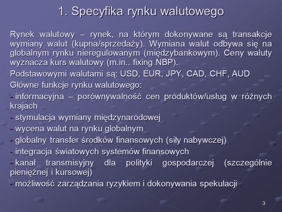 2 Struktura wykładu 1.Specyfika rynku walutowego 2.Kurs walutowy 3.Podstawowe transakcje walutowe 4.Rodzaje kursów walutowych 5.Polskie regulacje obro