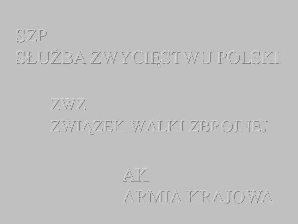 W latach 1940-1944 do AK przystąpiły m.in.: Tajna Armia Polska Polska Organizacja Zbrojna Znak PPS-WRN Tajna Organizacja Wojskowa Konfederacja Zbrojna Socjalistyczna Organizacja Bojowa Polski Związek Wolności oraz częściowo: Narodowa Organizacja Wojskowa Bataliony Chłopskie Narodowe Siły Zbrojne