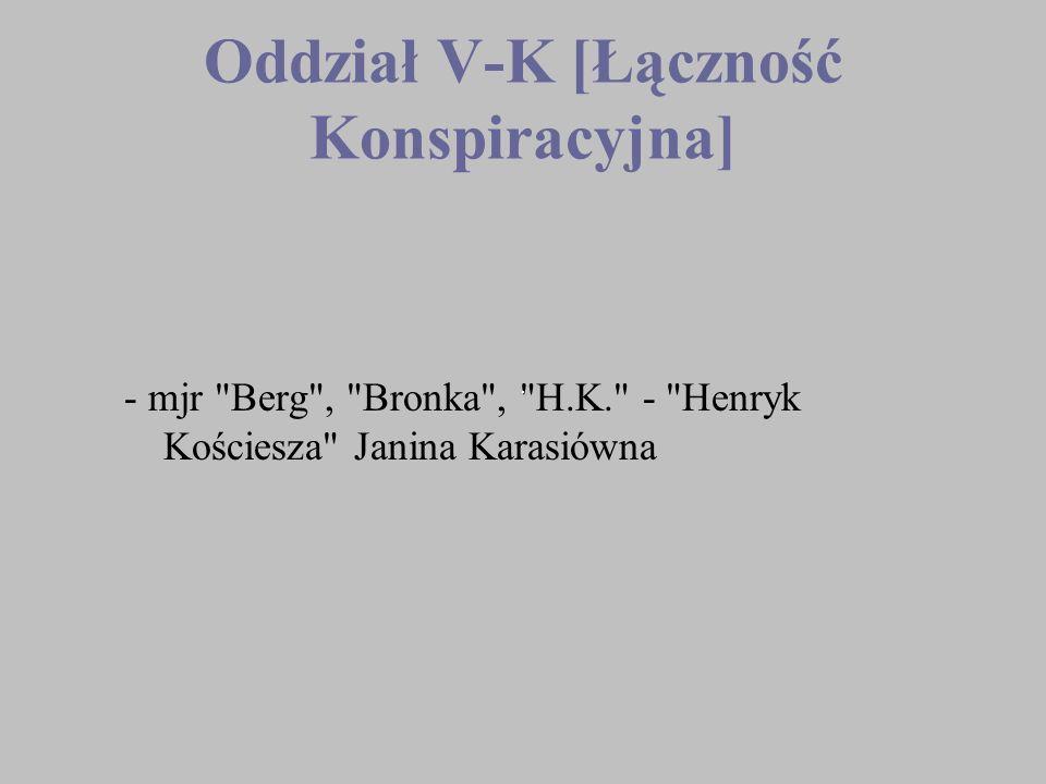 Oddział V-K [Łączność Konspiracyjna] - mjr