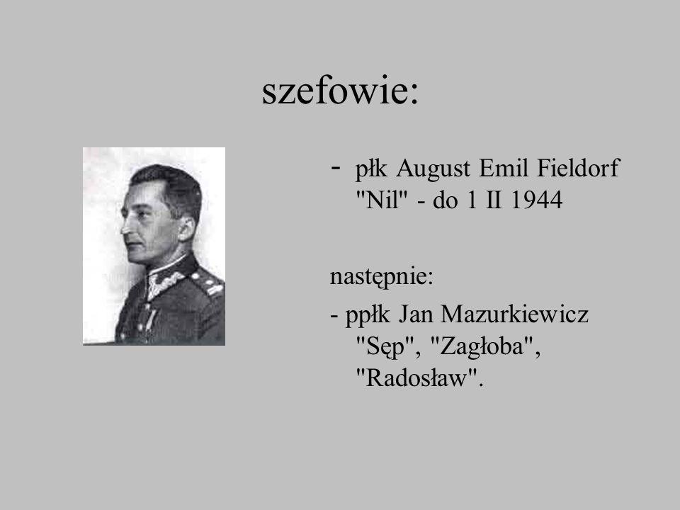 szefowie: - płk August Emil Fieldorf