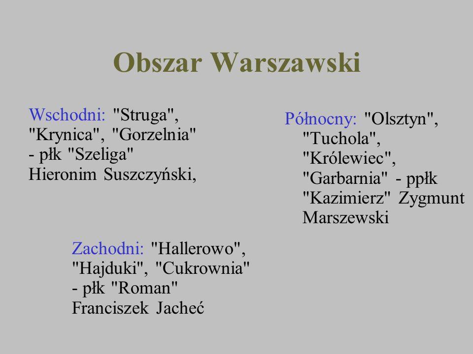 Obszar Warszawski Północny: