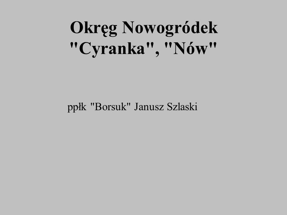 Okręg Nowogródek
