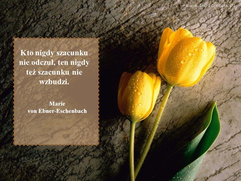 Kto nigdy szacunku nie odczuł, ten nigdy też szacunku nie wzbudzi. Marie von Ebner-Eschenbach