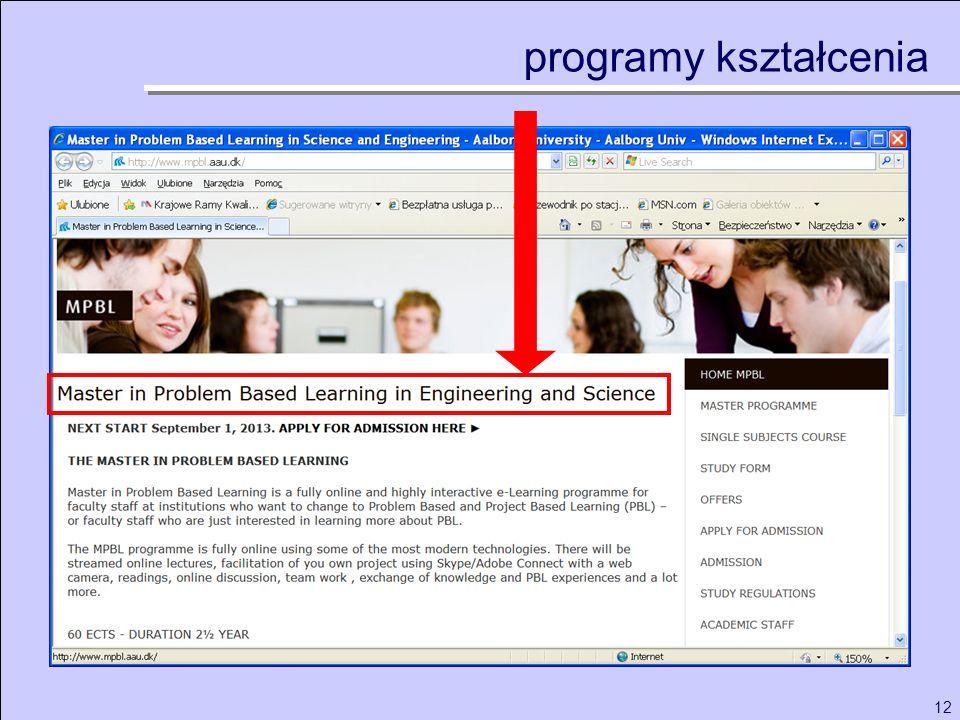 12 programy kształcenia