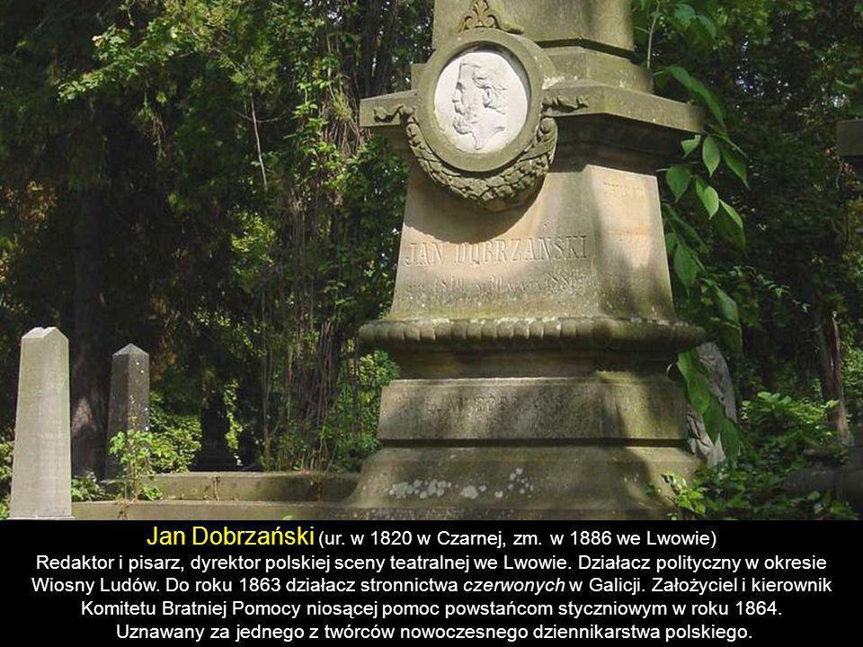 Artur Grottger (ur. 11 listopada 1837 w Ottyniowicach, zm. 13 grudnia 1867 w Amélie-les- Bains-Palalda) Malarz, jeden z czołowych przedstawicieli roma