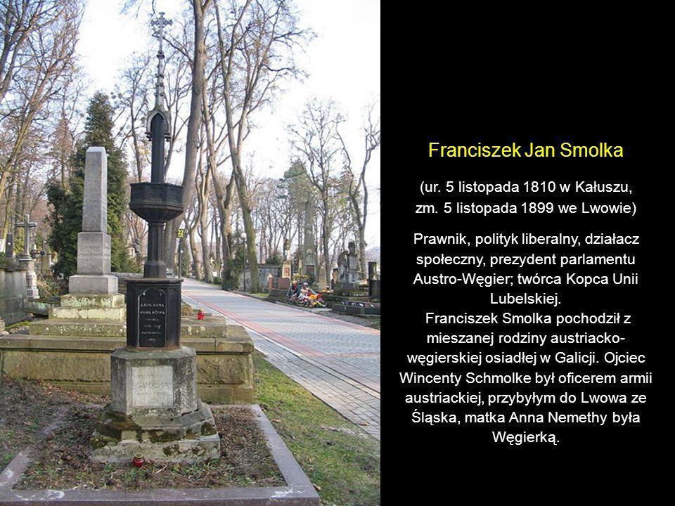 Grobowiec rodziny Szajnochów: Karola, jego żony Joanny i syna Władysława. (ur. 20 listopada1818 w Komarnie, zm. 10 stycznia 1868 we Lwowie) Pisarz, hi