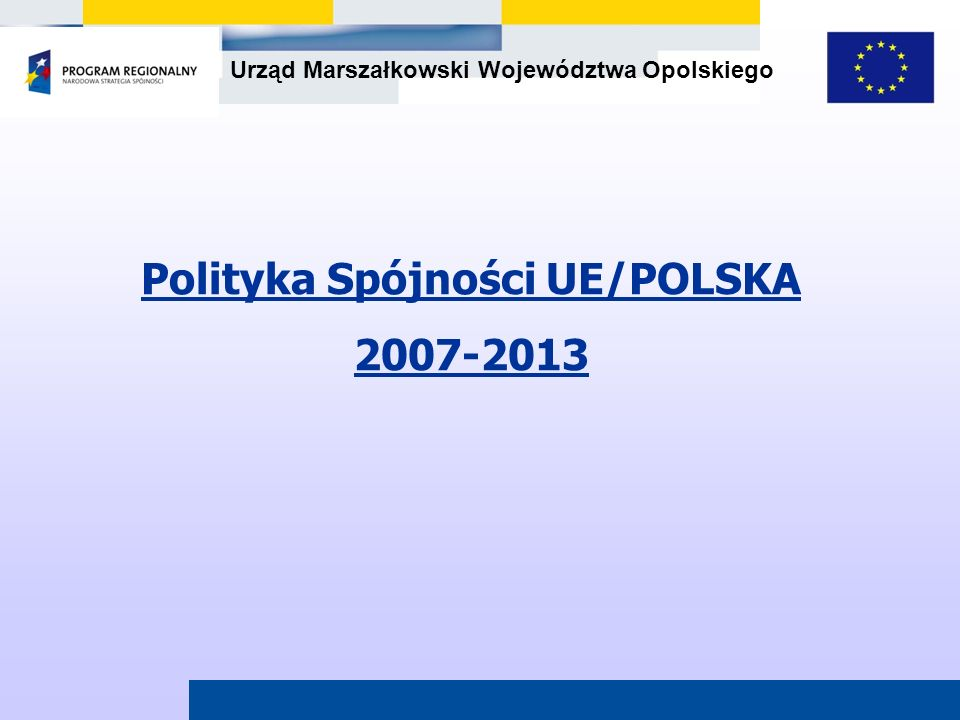 Urząd Marszałkowski Województwa Opolskiego 44 Budżet UE – 347,4 mld Euro Polska – 67,3 mld Euro – największy beneficjent funduszy unijnych Polityka Spójności UE 2007-2013